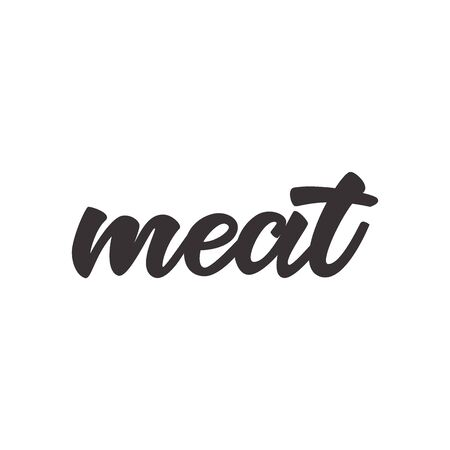 Meat - lettering sign. Çizim