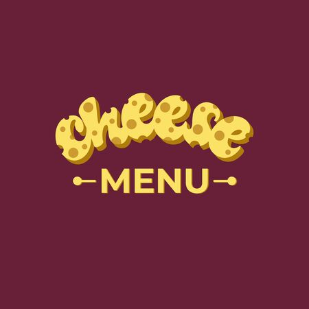 Cheese menu lettering design.