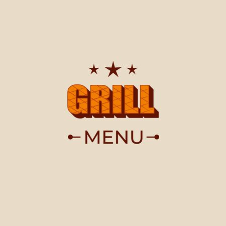 Grill menu - lettering sign design. Çizim