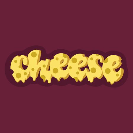 Cheese lettering design. Çizim