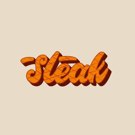 Steak - lettering design.