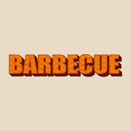Barbecue - lettering design. Çizim