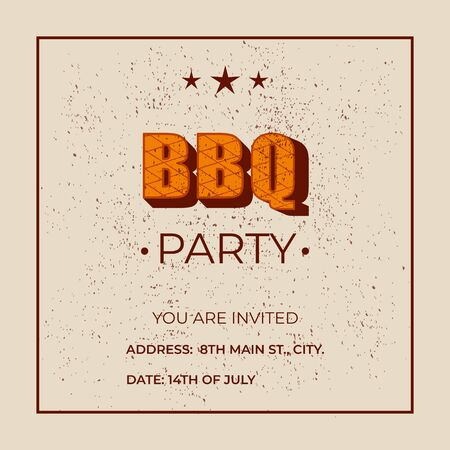 BBQ party - lettering banner design.