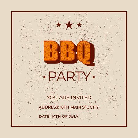 BBQ party - lettering banner design.