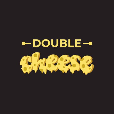 Double Cheese lettering design. Çizim