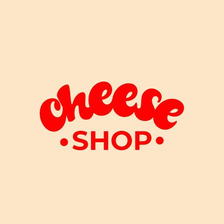 Cheese shop lettering design. Çizim