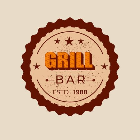 Grill bar - lettering badge design.