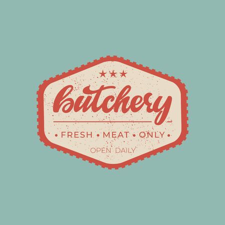 Butchery - lettering badge design.