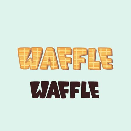 Waffle logo - lettering design. Vector illustration.