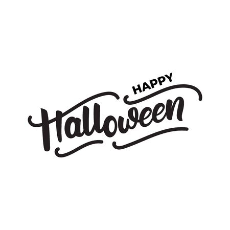 Happy Halloween - lettering card design. Vector illustration.