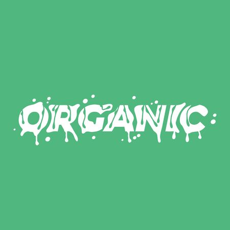 Organic lettering word. Vector illustration.