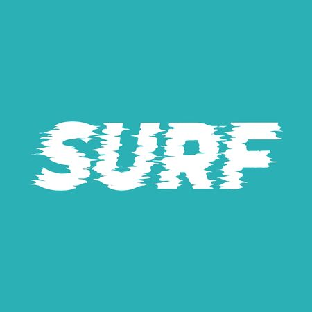 Surf lettering word. Vector illustration. Stok Fotoğraf - 130917898