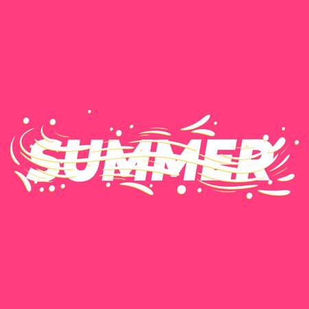 Summer lettering poster. Vector illustration.