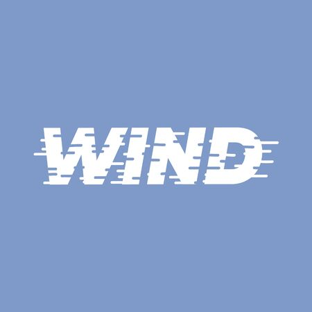 Wind - lettering word. Vector illustration. Çizim