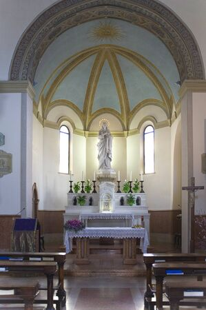interior of a church with a statue of the Virgin Mary Stock Photo - 18614606