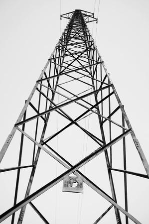 old high voltage pylon Stock Photo - 18876232