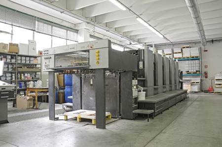 4 color printing: five color offset lithography press machine