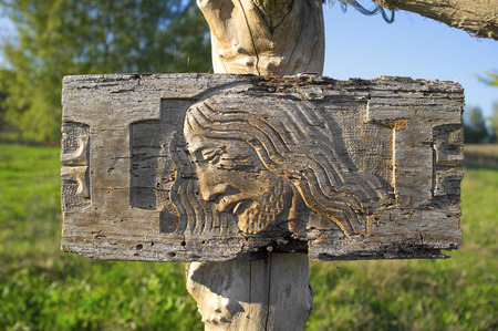 christendom: Christ Jesus Wood carved, anonymous work