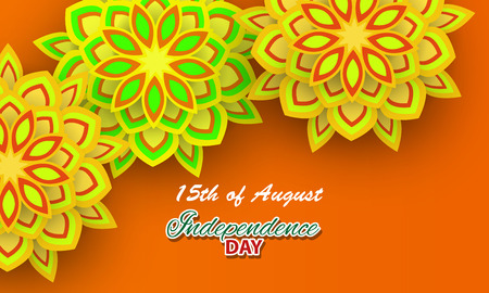 Happy Independence day India, Vector illustration, Flyer design for 15th August Stock Photo