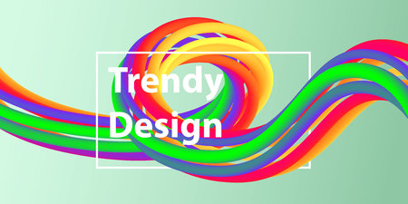 Futuristic abstract background. 3D illustration of a fluid shape. Abstract landing page template. Color Liquid form Movement. Website concept. Abstract background with bright gradient and light effect. Vector illustration