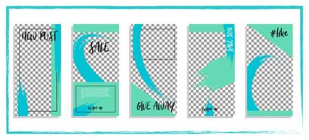 Trendy editable template for social networks story, vector illustration. Design backgrounds for social media