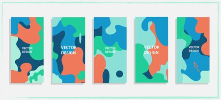 Trendy editable template for social networks story, vector illustration. Design backgrounds for social media.Vector Ilustracja