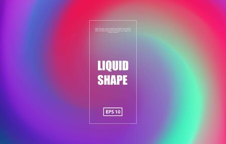Swirl colored background. Gradient futuristic design. Vector