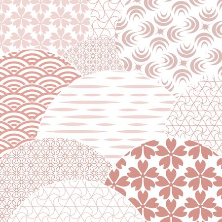 Japanese and chinese vector pattern. Gentle, nice looking geometric background. Abstract template for your design. Zdjęcie Seryjne - 129363889