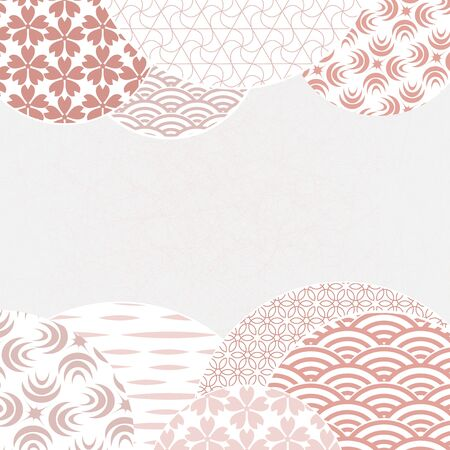 Japanese and chinese vector pattern. Gentle, nice looking geometric background. Abstract template for your design. Ilustracja
