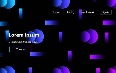 Minimal geometric wallpaper. Trendy gradient colors. Futuristic design posters. Zdjęcie Seryjne - 129363911
