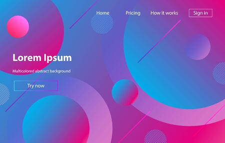 Liquid color background design. Fluid gradient shapes composition. Futuristic design posters. Minimal geometric background. Dynamic shapes composition.. Ilustracja