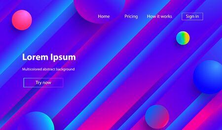 Liquid color background design. Fluid gradient shapes composition. Futuristic design posters. Minimal geometric background. Dynamic shapes composition..Trendy gradient colors Zdjęcie Seryjne - 129363916
