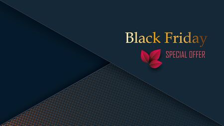 Black friday sale banners. Stylish black background with gradient pattern and text. Price collapse. Vector illustration Zdjęcie Seryjne - 129363949