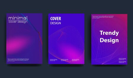 Covers with minimal design. Cool geometric backgrounds for your design. Applicable for Banners, Placards, Posters, Flyers etc.Vector template.