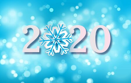 2020 Happy New Year Background for your Seasonal Flyers and Greetings Card or Christmas themed invitations.Vector