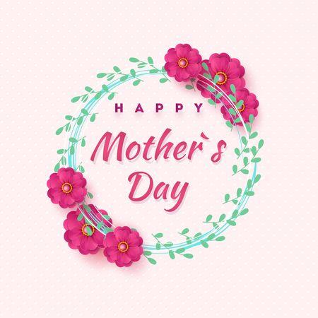 Mother s day greeting card with beautiful blossom flowers Zdjęcie Seryjne - 143484306
