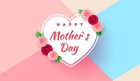 Mother s day greeting card with beautiful blossom flowers Zdjęcie Seryjne - 143484308