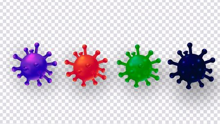 Coronavirus disease COVID-19, dangerous infection isolated on transparent background. Zdjęcie Seryjne - 143832355