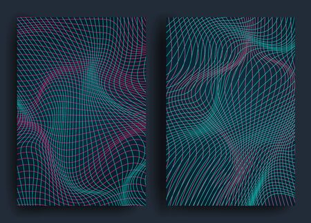 Abstract background with geometric shapes and curved lines Design for covers, posters, wrapping paper Ilustracja