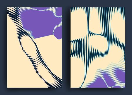 Abstract background with geometric shapes and curved lines Design for covers, posters, wrapping paper Zdjęcie Seryjne - 144863898