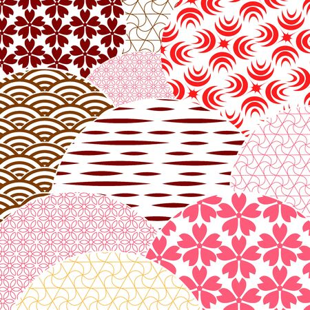 Japanese and chinese vector pattern. Asian background. Retro style. Abstract template for your design .Vector