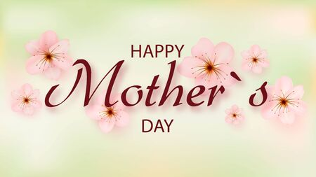 Mother s day greeting card with beautiful blossom flowers. Happy Mother s Day. Zdjęcie Seryjne - 145869767