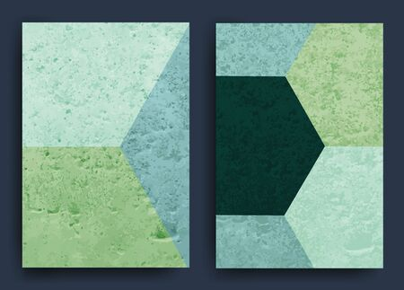 Set of abstract backgrounds with scratched urban grunge background texture. Dust Overlay Distress Grainy, ugly effect. Vector illustration.
