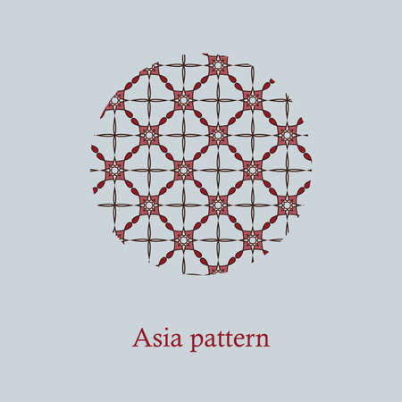 Chinese Simple Oriental Pattern Background Texture. Geometric Shapes. Vector