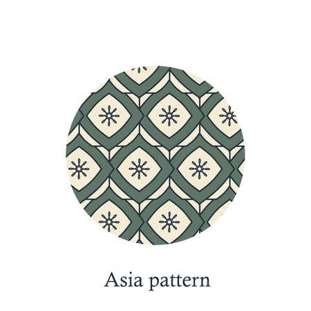 Chinese Simple Oriental Pattern Background Texture. Geometric Shapes. Vector Zdjęcie Seryjne - 157416457