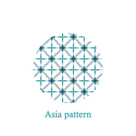 Chinese Simple Oriental Pattern Background Texture. Geometric Shapes. Vector Zdjęcie Seryjne - 158791829