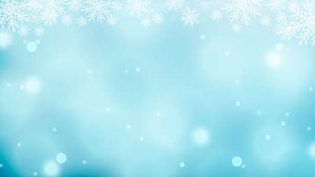 Christmas background with snowflakes, starbursts, sparkles and light vector effect for luxury greeting card.Vector