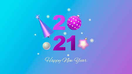 Happy New Year. Christmas background design