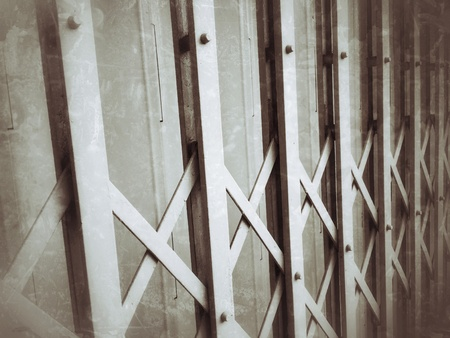 metal: Grunge metal fence door background Stock Photo