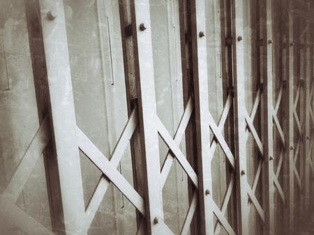 metallic: Grunge metal fence door background Stock Photo